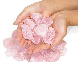 1kg Rose Quartz Small Rough Parcel