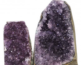 2.53kg Amethyst Crystal Geode Specimen Set 2 Pieces N116