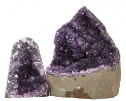 2.31kg Amethyst Crystal Geode Specimen Set 2 Pieces N117