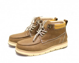 UGG CIELE MEN'S COW LEATHER WATER PROOF LACE UP BOOTS#OLIVE