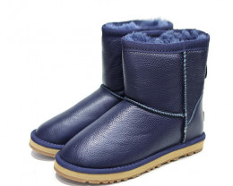 UGG CIELE WATERPROOF DOUBLE CLASSIC LEATHER SHORT BOOTS (MORE COLOURS AVAIL