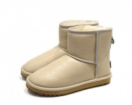 UGG CIELE WATERPROOF DOUBLE CLASSIC LEATHER MINI BOOTS (MORE COLOURS AVAILA