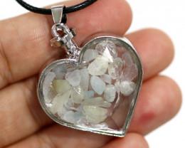 Lovers Heart Shape  Natural Aquamarine  Gemstone Pendants   AHA   298