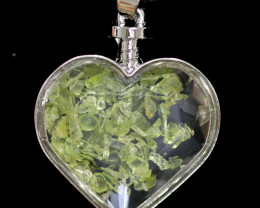 Lovers Heart Shape  Natural Peridot  Gemstone Pendants  AHA   311