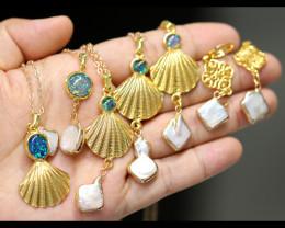Sea Collection - Classic Baroque Pearl 6  Piece set  AHA 341