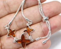 Natural Baltic Amber Sterling Silver Bracelet code GI 963