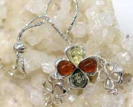 Natural Baltic Amber Sterling Silver Bracelet code GI 965