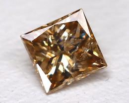 Champagne Diamond 0.20Ct Natural Princess Genuine Fancy Diamond CH1004