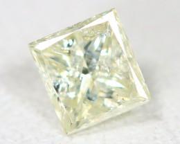 Yellow Diamond 0.24Ct Princess Natural Genuine Fancy Diamond CH1009