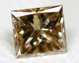 Orange Diamond 0.14Ct Princess Natural Genuine Fancy Diamond CH1012