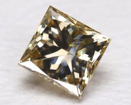 Yellow Diamond 0.28Ct Natural Princess Genuine Fancy Diamond CH1015