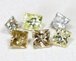 Diamond 0.20Ct Princess Natural Genuine Fancy Color Diamond Lot CH1017