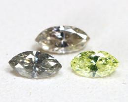 Diamond 0.22Ct Natural Genuine Fancy Color Diamond Lot CH1019