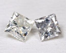 Diamond 0.33Ct 2Pcs Natural Princess Genuine Fancy Diamond CH1020