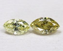 Diamond 0.20Ct 2Pcs Natural Genuine Fancy Color Diamond CH1022