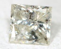 Light Yellow Diamond 0.20Ct Princess Natural Genuine Fancy Diamond CH1024
