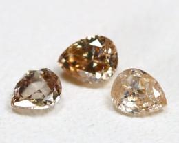 Peach Diamond 0.22Ct Natural Genuine Fancy Diamond Lot CH1025