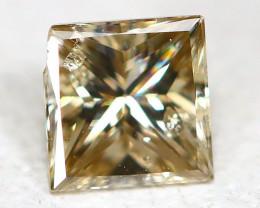 Orange Diamond 0.19Ct Princess Natural Genuine Fancy Diamond CH1026