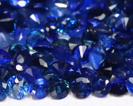 3.34Ct Calibrate 1.40mm Natural Vivid Blue Sapphire Round Lot CH1028