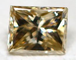 Orange Diamond 0.13Ct Princess Natural Genuine Fancy Diamond CH1029