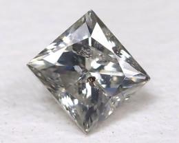 Grey Diamond 0.21Ct Natural Princess Genuine Fancy Diamond CH1031