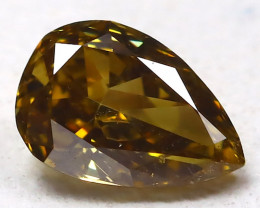 Yellowish Green Diamond 0.26Ct Natural Genuine Fancy Diamond CH1033
