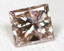 Pink Diamond 0.14Ct Princess Natural Genuine Fancy Diamond CH1036