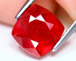 Red Ruby 3.36Ct Square Cut Pigeon Blood Red Ruby CH1044