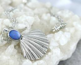 Australian Sea Collection Doublet Opal Shell Pendant CCC 1709