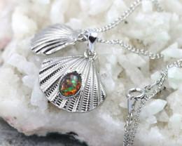 Australian Sea Collection  Opal Shell Pendant CCC 1715