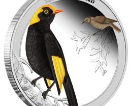 Regent Bowerbird 2013 1/2oz Silver Proof Coin Birds Of Australia
