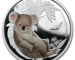 2011 Australian Bush Babies 1/2oz 99.9% Silver Proof Koala  Coin