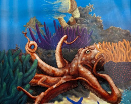 THE REEF - OCTOPUS 2012 1/2OZ SILVER PROOF COIN SEA LIFE