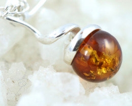 Natural Baltic Amber Sterling Silver Pendant code GI 1076
