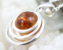 Natural Baltic Amber Sterling Silver Pendant code GI 1147