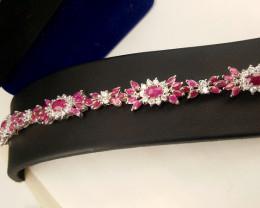 Stunning Ruby Bracelet 925 Sterling silver bracelet CCC 1777