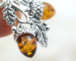 Natural Baltic Amber Sterling Silver Pendant code GI 1163
