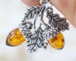 Natural Baltic Amber Sterling Silver Pendant code GI 1166