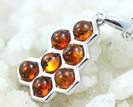 Natural Baltic Amber Sterling Silver Pendant code GI 1175