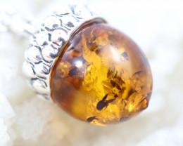 Natural Baltic Amber Sterling Silver Pendant code GI 1178