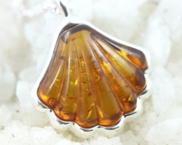 Natural Baltic Amber Sterling Silver Pendant code GI 1190