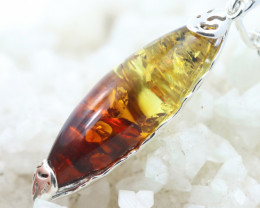 Natural Baltic Amber Sterling Silver Pendant code GI 1233
