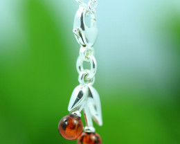 Natural Baltic Amber Sterling Silver Charm code GI 1341