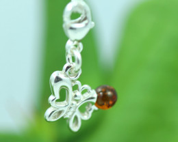Natural Baltic Amber Sterling Silver Charm code GI 1381