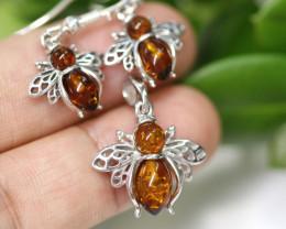 Natural Baltic Amber Jewellery Set   code GI 1432