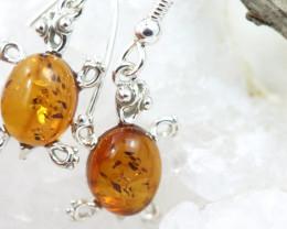 Natural Baltic Amber Earrings   code GI 1475