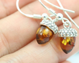 Natural Baltic Amber Earrings   code GI 1483
