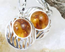 Natural Baltic Amber Earrings   code GI 1500