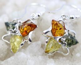 Natural Baltic Amber Earrings   code GI 1550
