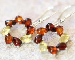 Natural Baltic Amber Earrings   code GI 1555